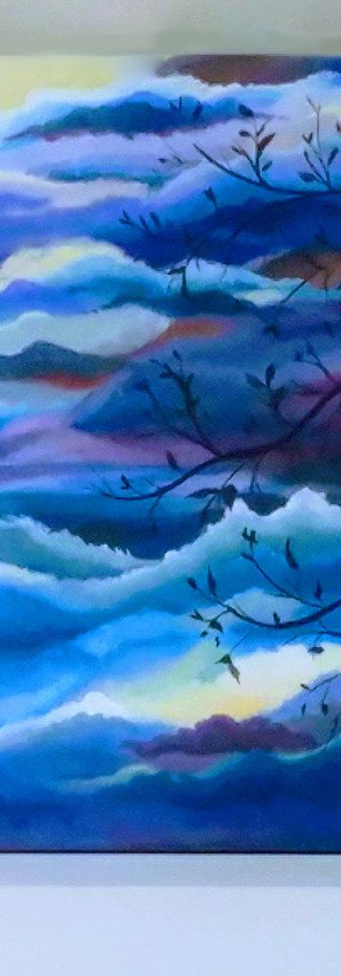 Cloudy sky triptych
