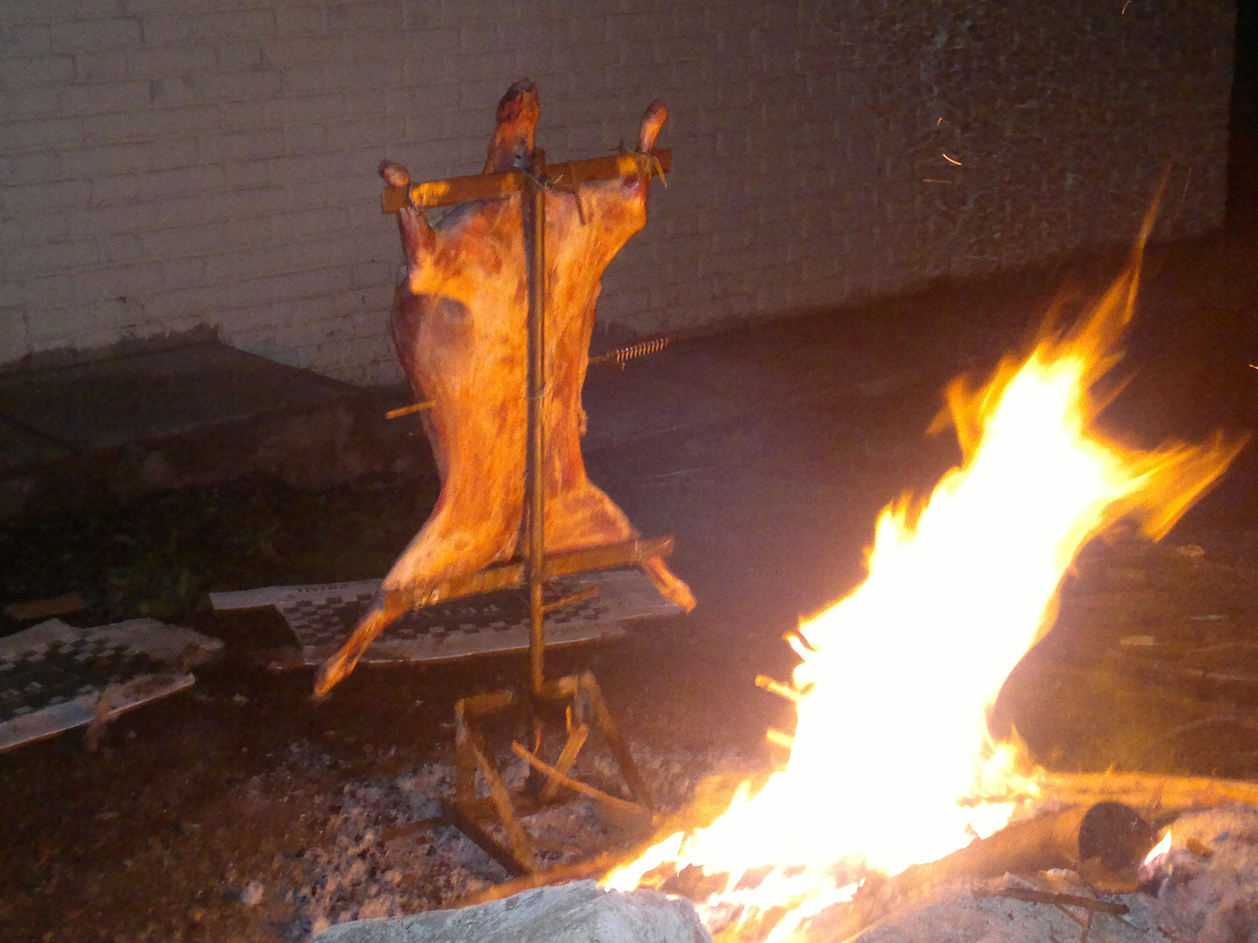 asado a la llama