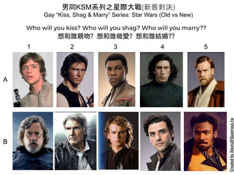 男同 KSM 系列之星際大戰(新舊對決)  | Gay KSM Series: Star Wars (Old vs New)