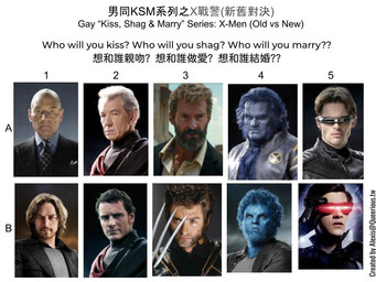 男同 KSM 系列之X戰警(新舊對決)  | Gay KSM Series:  X-Men (Old vs New)