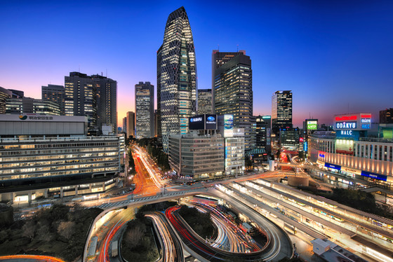 Shinjuku Skyscraper District Photography