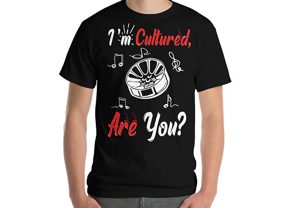 I'm Cultured Short Sleeve T-Shirt (Red/White Logo)