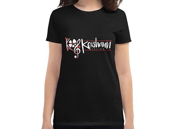 Women's short sleeve t-shirt (White/Red Logo)