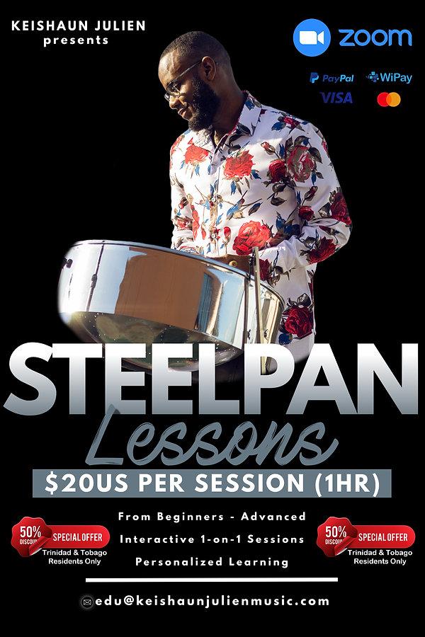 Online Steelpan Lessons with Keishaun Julien
