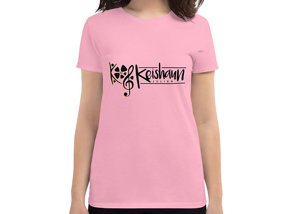Women's short sleeve t-shirt (BlackYellow Logo)