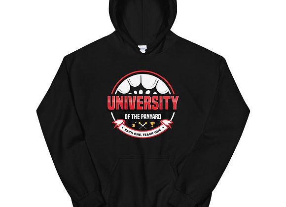 University of the Panyard Unisex Hoodie (Red/White Logo)