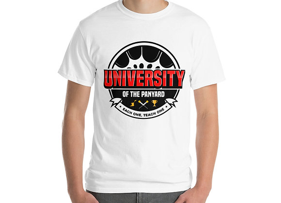 University of the Panyard Short Sleeve T-Shirt (Black/Red Logo)