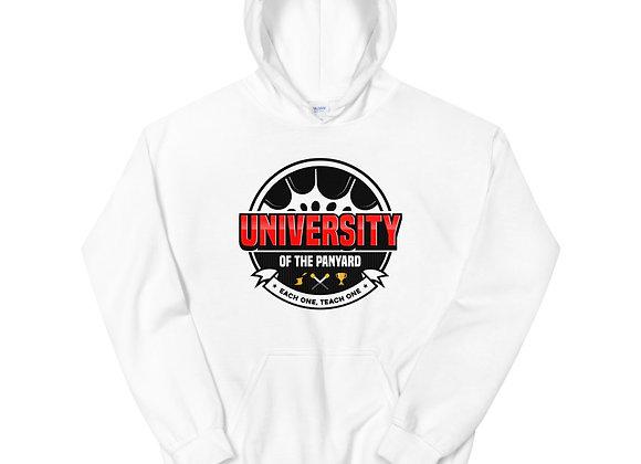 University of the Panyard Unisex Hoodie (Black/Red Logo)