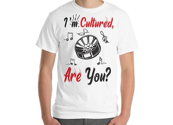 I'm Cultured Short Sleeve T-Shirt (Red/Black Logo)