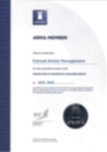 ARMA Certificate 2019 - 2020.jpg