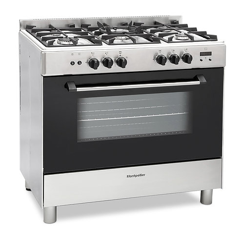 MONTPELLIER NEW STAINLESS STEEL GAS RANGE COOKER