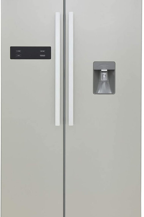 MONTPELLIER M520WDS SILVER AMERICAN FRIDGE FREEZER