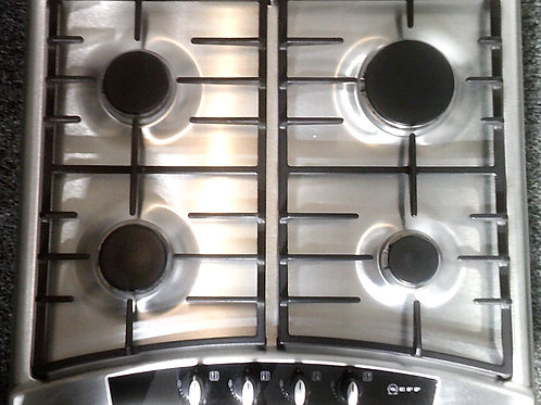 NEFF USED STAINLESS STEEL GAS HOB