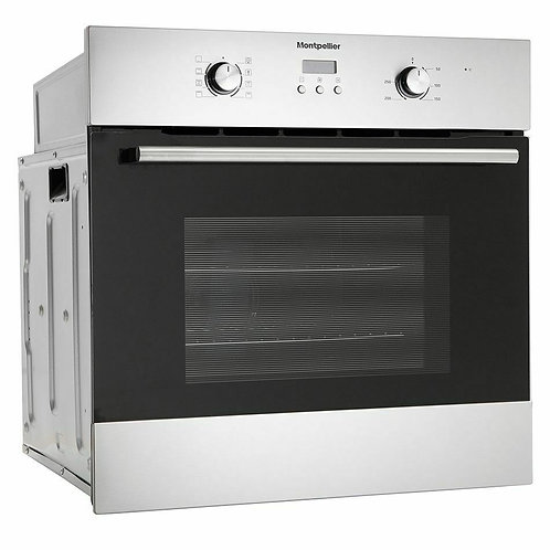MONTPELLIER NEW SILVER SINGLE BUILT-IN OVEN