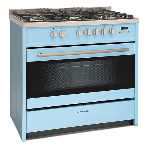 MONTPELLIER NEW BLUE DUAL FUEL RANGE COOKER