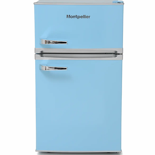 MONTPELLIER NEW BLUE RETRO UNDER COUNTER FRIDGE FREEZER