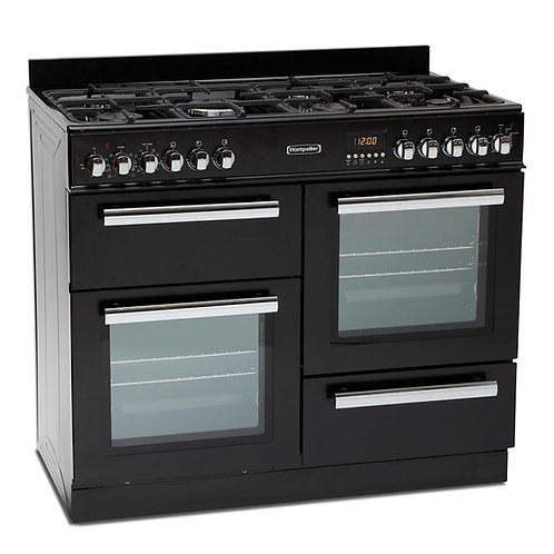 MONTPELLIER NEW BLACK DUAL FUEL RANGE COOKER