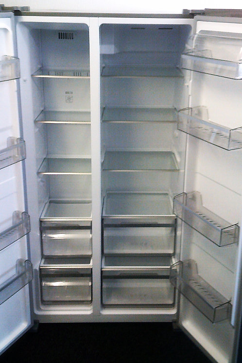 USED AMERICAN SILVER FRIDGE FREEZER