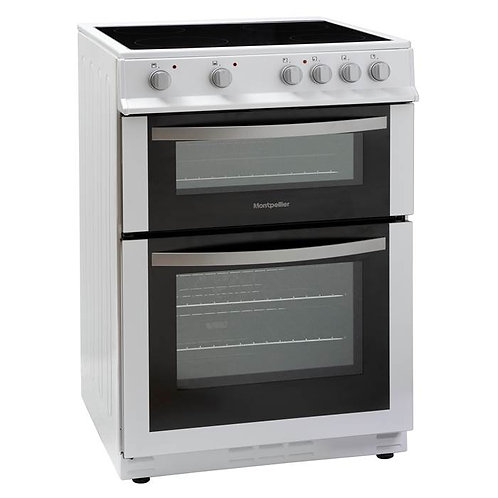 MONTPELLIER NEW 60CM ELECTRIC CERAMIC DOUBLE OVEN COOKER