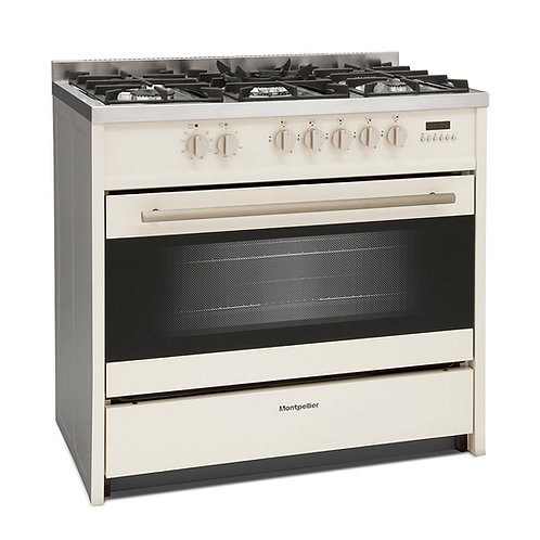 MONTPELLIER NEW CREAM DUAL FUEL RANGE COOKER