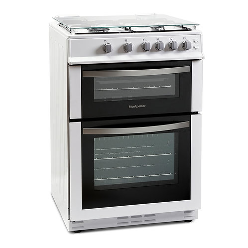 MONTPELLIER NEW 60CM GAS DOUBLE OVEN COOKER