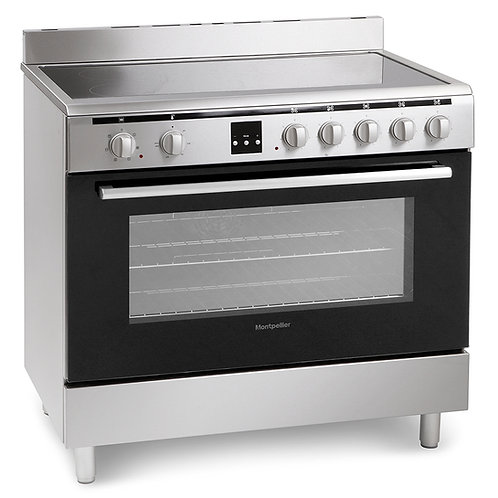 MONTPELLIER NEW STAINLESS STEEL ELECTRIC CERAMIC RANGE COOKER