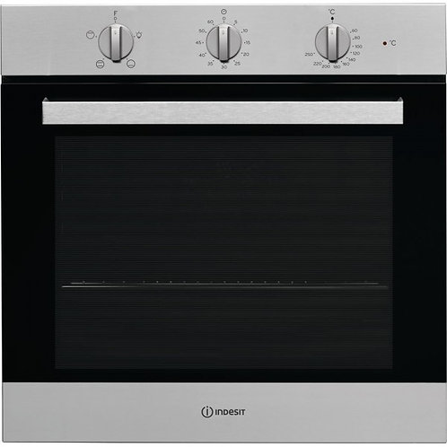 INDESIT NEW SILVER SINGLE BUILT-IN OVEN