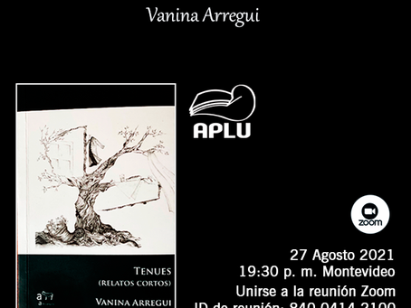 PRESENTACIÓN DE TENUES (RELATOS CORTOS) - Vanina Arregui