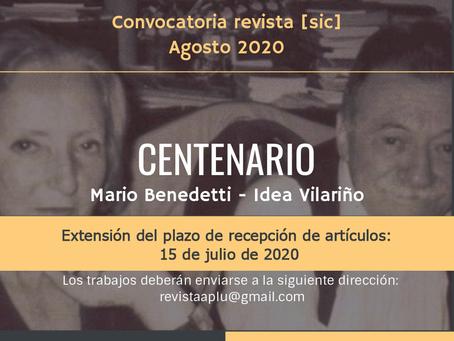 Convocatoria revista [sic] - CENTENARIO Mario Bennedetti - Idea Vilariño