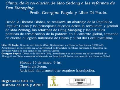 China: de la revolución de Mao Zedong a las reformas de Den Xiaopping