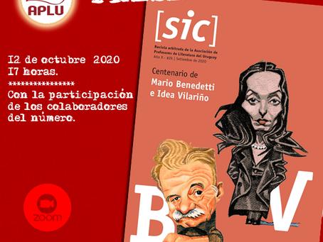 PRESENTACIÓN Revista [sic] #26 -Centenario de Mario Benedetti e Idea Vilariño. 12 de octubre de 202