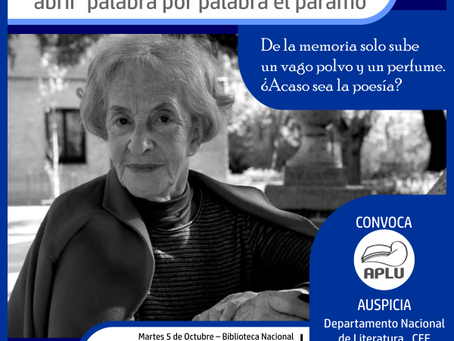 Ida Vitale, abrir palabra por palabra el páramo. Biblioteca Nacional de Uruguay. 5/10/2021