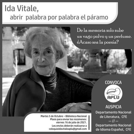 Ida Vitale, abrir  palabra por palabra el páramo