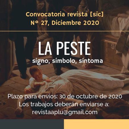 Convocatoria Revista [sic] #27 - Diciembre 2020