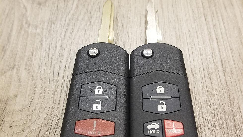 2004-2011 Madza Remote Flip Key