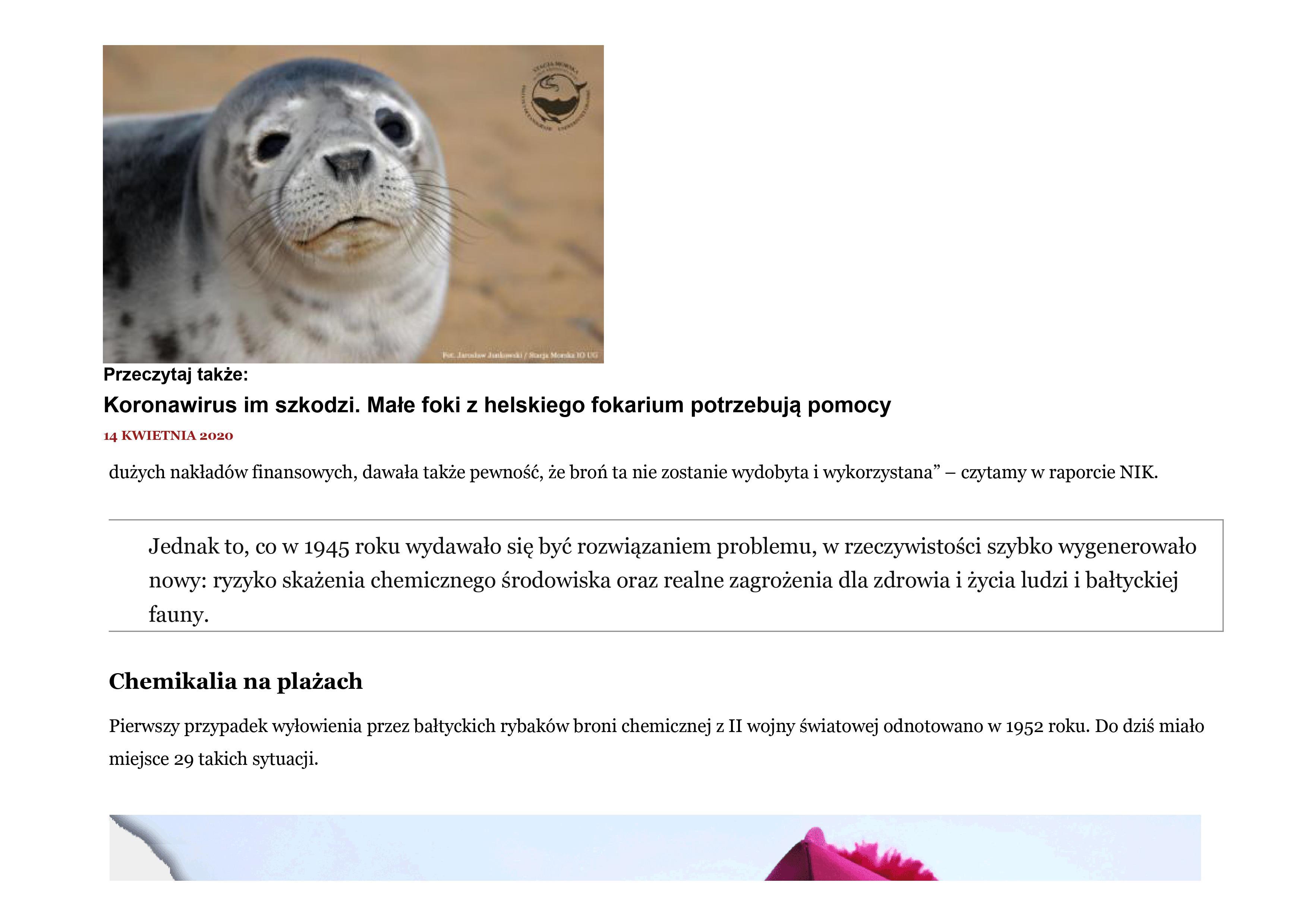 Zanieczyszczone Morze Bałtyckie 6