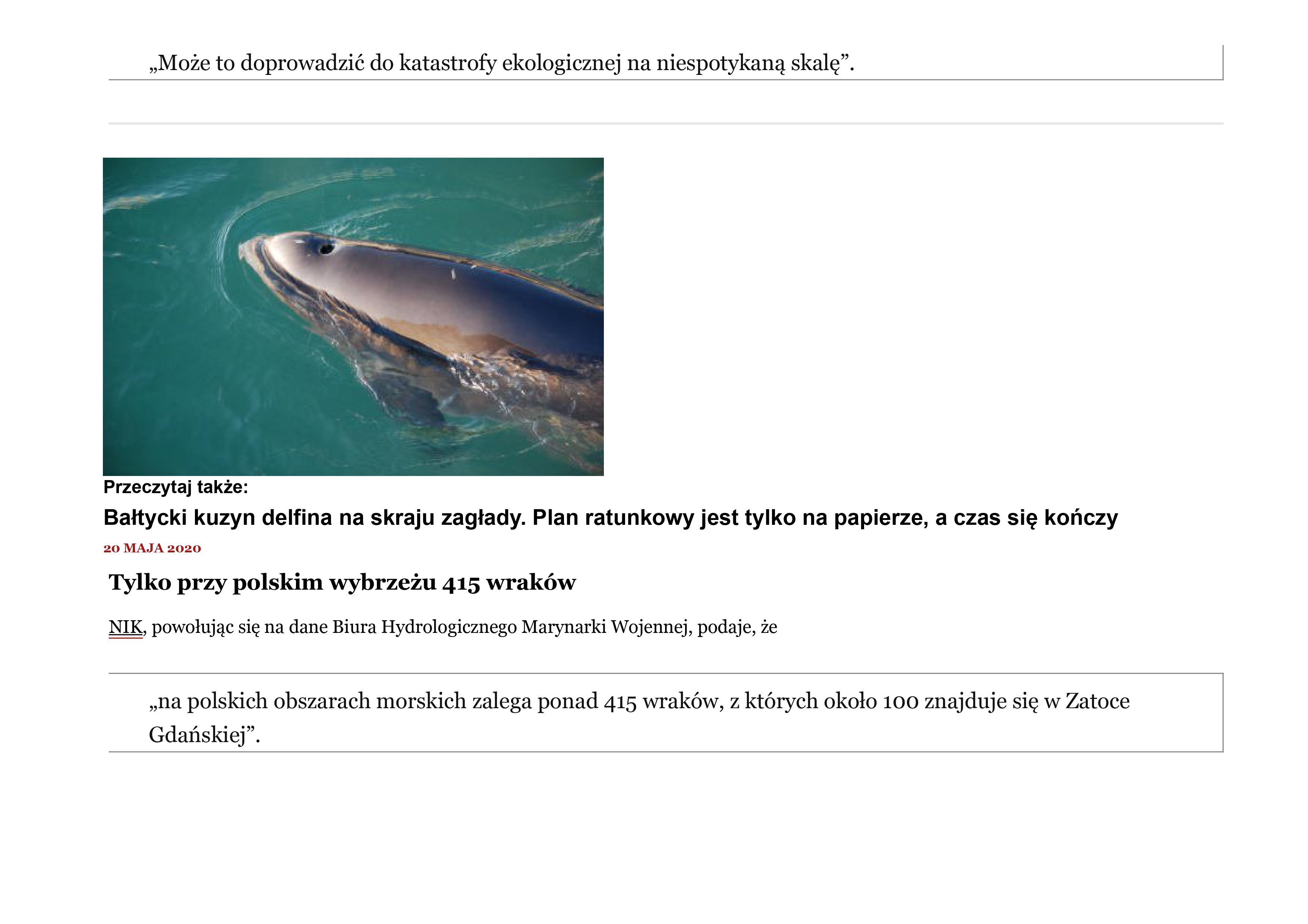 Zanieczyszczone Morze Bałtyckie 3