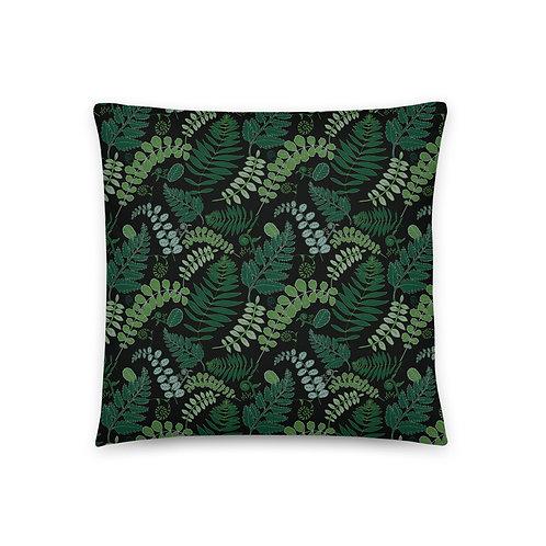 Forest Foliage Throw Pillow