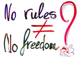 NORULES NO FREEDOM