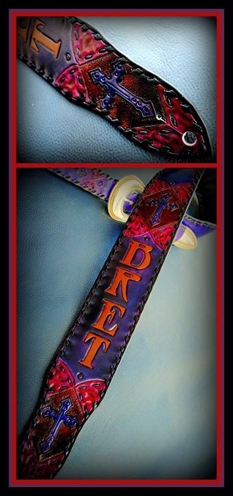 Wild custom guitar strap created for Poison front man Bret Michaels