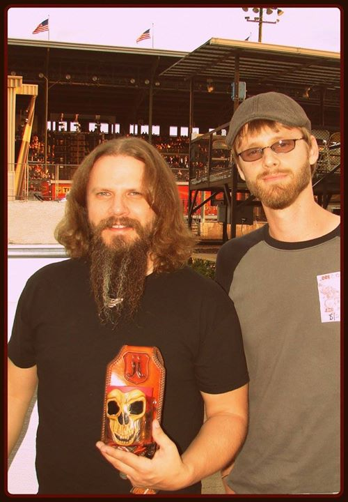 Jamey Johnson and I backstage at the Iowa State Fair in 2009.