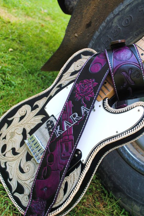 Kara Clark's bad-ass custom guitar strap.