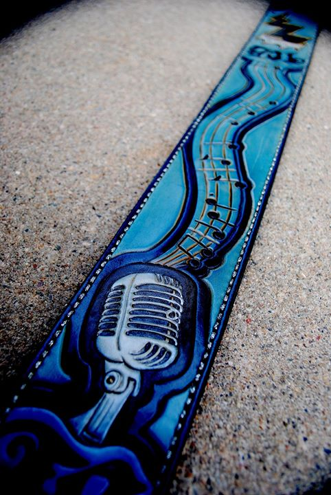 Ty Bates' custom guitar strap