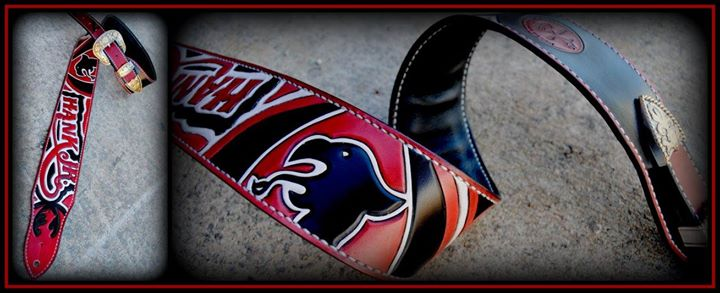 Custom guitar strap designed for Hank Williams Jr