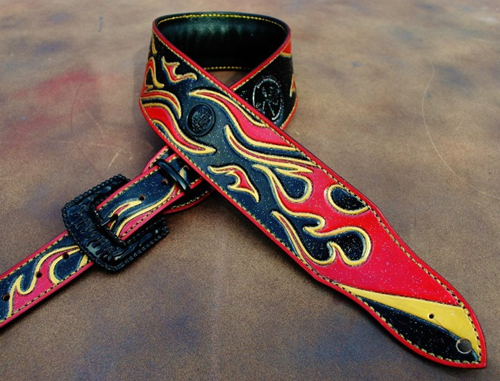 Tribal Flames custom guitar strap!  This beauty should come with it's own sexy theme song..
