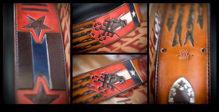 Shooter Jennings custom _Black Ribbons_ guitar strap
