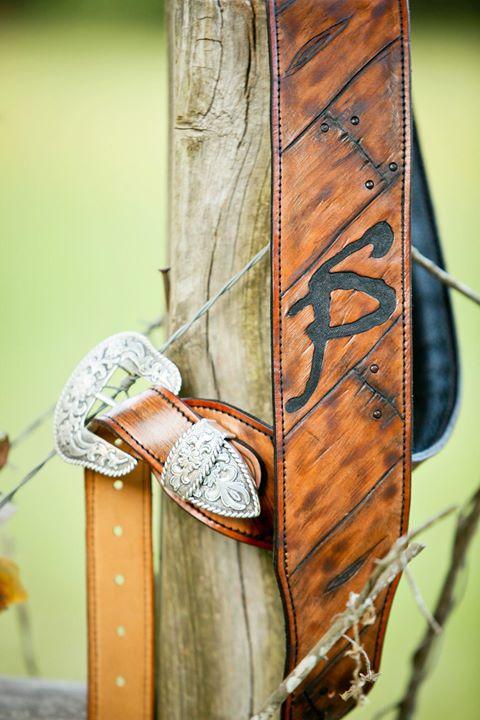 Sid Phelps' custom barnwood strap!