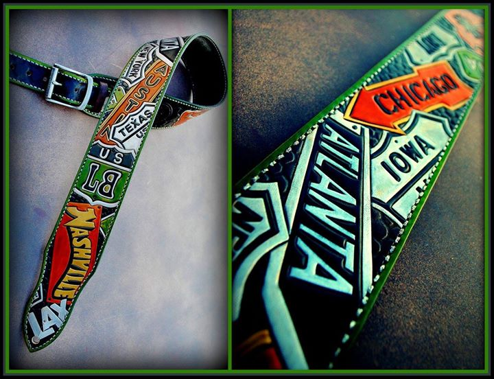 Lee Brice's 4th custom guitar strap!