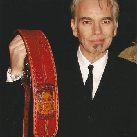 Here is a very old one... Billy Bob with his custom Franken Strap!  This was the second guitar strap