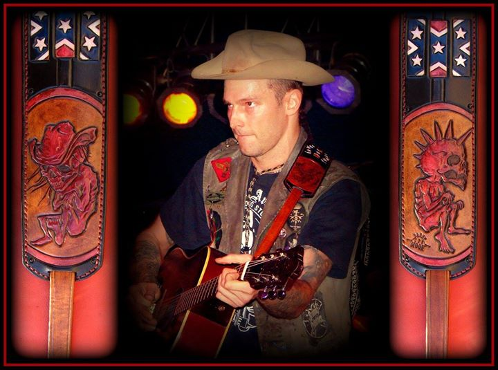 Hank Williams III custom vintage style strap.